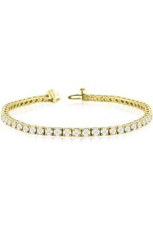 SuperJeweler 9 Inch 14K (14.4 g) 10 1/3 Carat TDW Round Diamond Men's Tennis Bracelet (