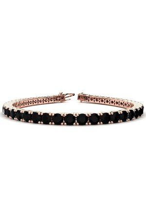 SuperJeweler 7.5 Inch 9 3/4 Carat Black Diamond Men's Tennis Bracelet in 14K (12.9 g) by