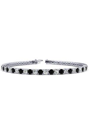 SuperJeweler 9 Inch 5 Carat Black & White Diamond Men's Tennis Bracelet in 14K (12.1 g)