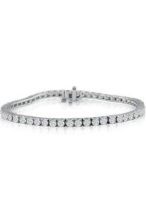 "SuperJeweler 6 Carat Diamond Men's Tennis Bracelet in 14K (13 g) - 8.5"""