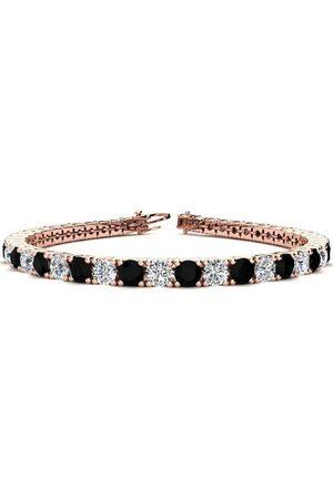 SuperJeweler 9 Inch 11 3/4 Carat Black & White Diamond Men's Tennis Bracelet in 14K (15.4 g)