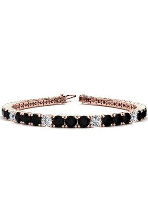 SuperJeweler 9 Inch 11 3/4 Carat Black & White Diamond Alternating Men's Tennis Bracelet in 14K (15.4 g)