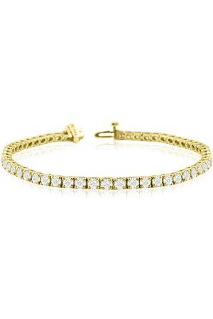 SuperJeweler 8.5 Inch 14K (13.6 g) 9 3/4 Carat TDW Round Diamond Men's Tennis Bracelet (