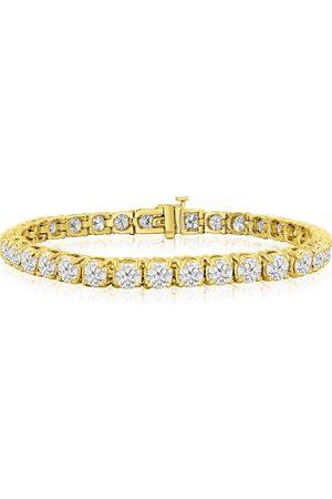 SuperJeweler 8 Inch 14K (19 g) 13 Carat TDW Round Diamond Men's Tennis Bracelet (