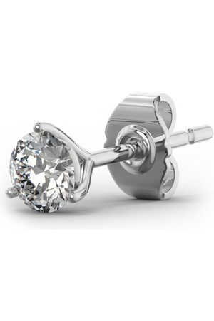 SuperJeweler 1/2 Carat Moissanite Martini Single Stud Earring in 14K