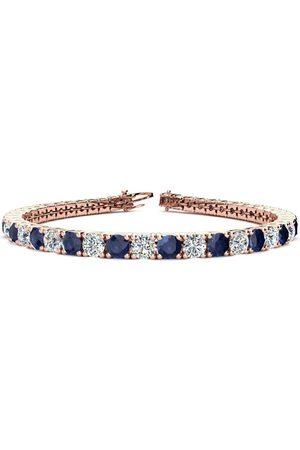 SuperJeweler 9 Inch 14 Carat Sapphire & Diamond Men's Tennis Bracelet in 14K (15.4 g)
