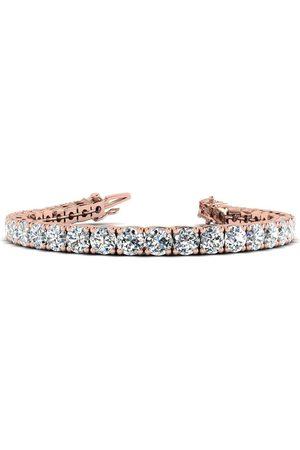 SuperJeweler 8.5 Inch 14K 13 1/2 Carat TDW Round Diamond Men's Tennis Bracelet (