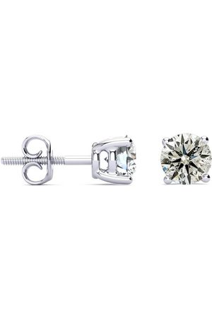 SuperJeweler 1.55 Carat Colorless Diamond Stud Earrings 14K (1.4 g) (E-F