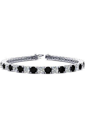 SuperJeweler 8 Inch 10 1/2 Carat Black & White Diamond Men's Tennis Bracelet in 14K (13.7 g)