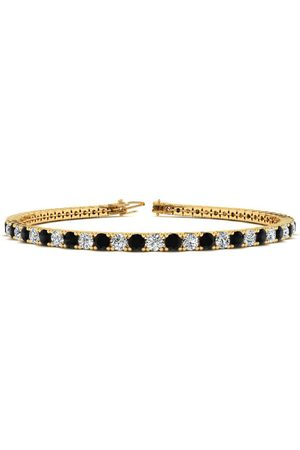 SuperJeweler 9 Inch 5 Carat Black & White Diamond Men's Tennis Bracelet in 14K (12.1 g)