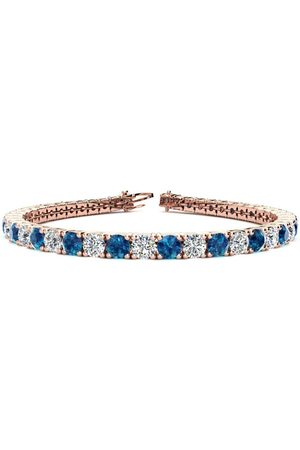 SuperJeweler 8 Inch 10 1/2 Carat Blue & White Diamond Men's Tennis Bracelet in 14K (13.7 g)