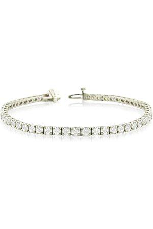 SuperJeweler 8 Inch 14K (12.8 g) 9 1/7 Carat TDW Round Diamond Men's Tennis Bracelet (