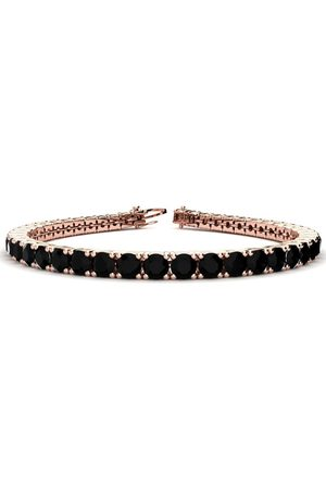 SuperJeweler 9 Inch 11 3/4 Carat Black Diamond Men's Tennis Bracelet in 14K (15.4 g) by