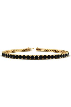 SuperJeweler 7.5 Inch 4 1/4 Carat Black Diamond Men's Tennis Bracelet in 14K (10.1 g) by