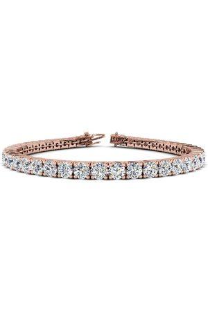 SuperJeweler 7.5 Inch 14K 9 3/4 Carat TDW Round Diamond Men's Tennis Bracelet (
