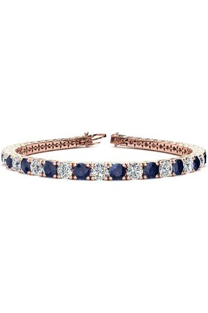 SuperJeweler 8 Inch 12 3/4 Carat Sapphire & Diamond Men's Tennis Bracelet in 14K (13.7 g)