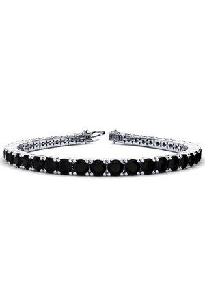 SuperJeweler 9 Inch 11 3/4 Carat Black Diamond Men's Tennis Bracelet in 14K (15.4 g) by