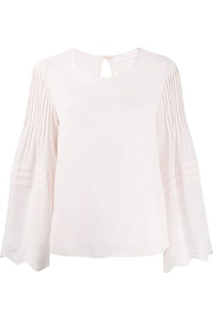 See by Chloé Women Blouses - Pleated long-sleeve blouse