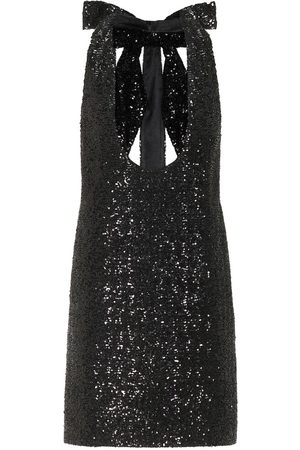 Saint Laurent Women Mini Dresses - Sequined minidress