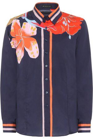 Etro Floral stretch-silk blouse