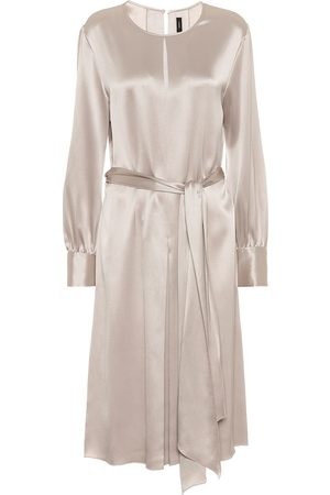 Joseph Women Midi Dresses - Silk-satin midi dress