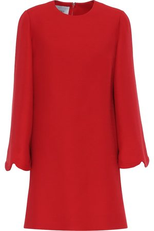VALENTINO Women Mini Dresses - Wool and silk crêpe minidress