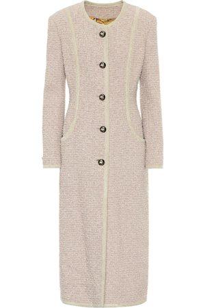 Etro Women Coats - Cotton-blend tweed coat