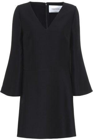 VALENTINO Women Mini Dresses - Wool and silk crêpe minidress