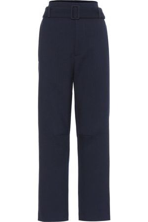 MM6 MAISON MARGIELA Women Stretch Pants - High-rise stretch wool-blend pants