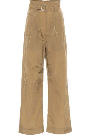 Ganni Women Straight Leg Pants - Tech high-rise straight pants