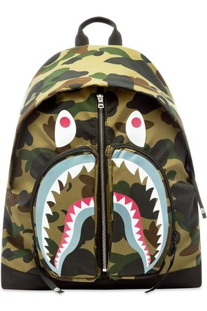 AAPE BY A BATHING APE Men Rucksacks - 1st Camo Shark Day Pack