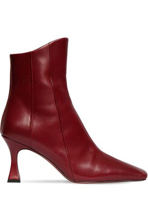 MANU 80mm Xx Duck Leather Ankle Boots