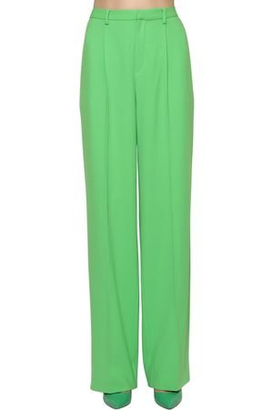 Ralph Lauren Wide Leg Light Wool Crepe Pants