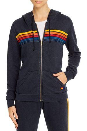 AVIATOR NATION Women Hoodies - Rainbow-Stripe Hoodie