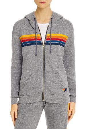 AVIATOR NATION Rainbow-Stripe Hoodie