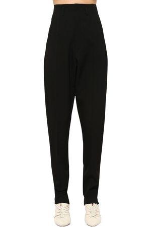 Isabel Marant Amaya Straight Leg Wool Blend Pants