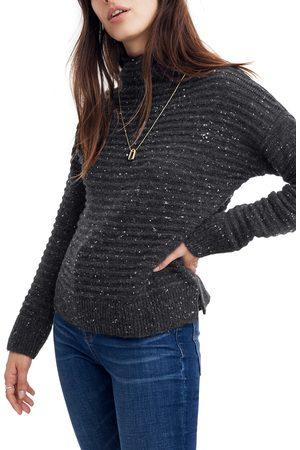 Madewell Women's Belmont Donegal Mock Neck Sweater
