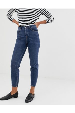 Selected Femme mom jeans-Navy