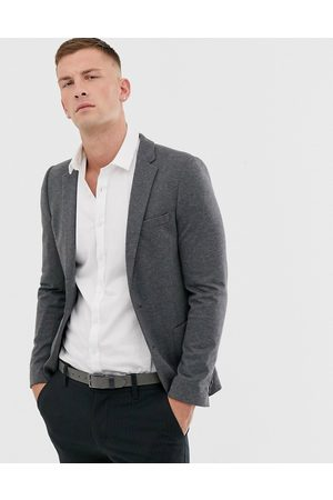ASOS Super skinny jersey blazer in charcoal