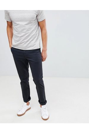 Selected Straight fit stretch chinos in