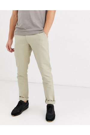 Farah Hopsack slim fit chinos in stone
