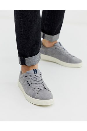 Jack & Jones Suede sneaker with comfort lining in gray