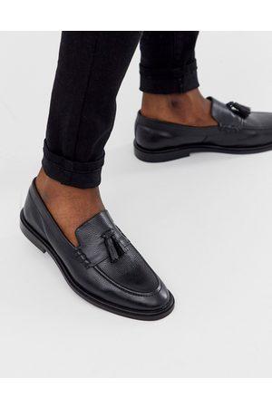 WALK LONDON West tassel loafers in pebble leather