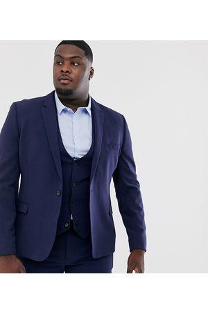 ASOS Plus super skinny fit suit jacket in navy