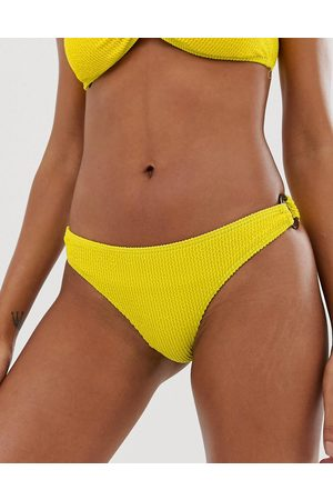Y.A.S Textured tortoise buckle bikini bottoms