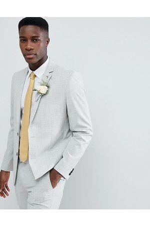 Farah Farah skinny wedding suit jacket in cross hatch