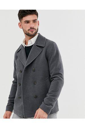 Jack & Jones Originals pea coat in dark