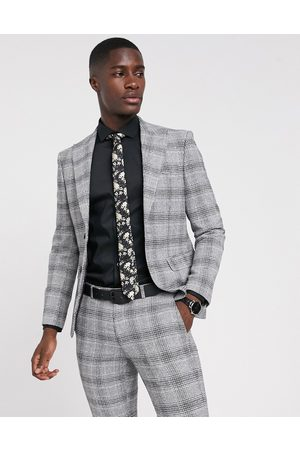 Moss Bros Moss London suit jacket and white check
