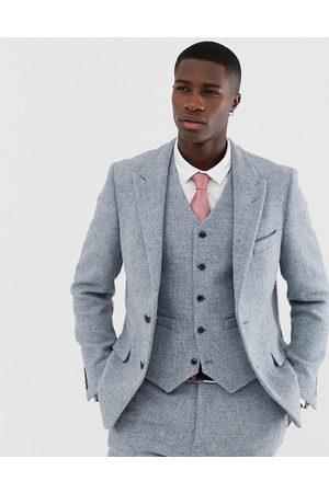 ASOS Slim suit jacket in 100% wool Harris Tweed in