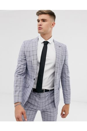 River Island Skinny suit jacket in powder check